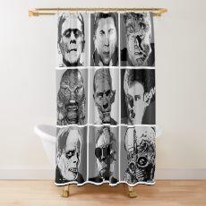 Universal Warhol Schwarz & Weiß Duschvorhang
