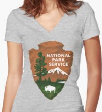 National Park Service Women's Fitted V-Neck T-Shirt