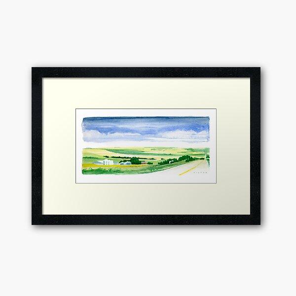 Rolling Prairie Farm Land Framed Art Print