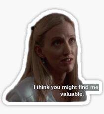 Donna Moss valuable sticker Sticker