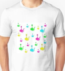 cats cartoon graphic color Unisex T-Shirt