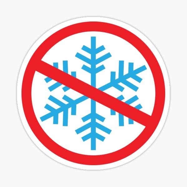 No Snowflakes Sticker