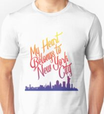 My Heart Belongs To New York City Design T-Shirt