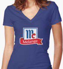 Dune Mahou Melange Beer Brand Parody Women's Fitted V-Neck T-Shirt