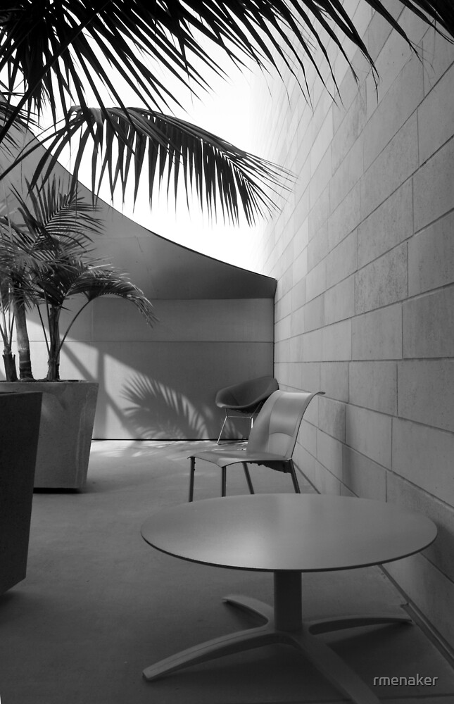 patio table and chairs, Disney Concert Hall, Los Angeles by rmenaker