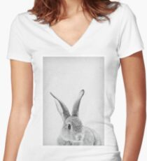 Rabbit 33 Shirt mit V-Ausschnitt