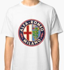 Antique Alfa-Romeo Classic Car Sign Classic T-Shirt