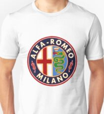 Antique Alfa-Romeo Classic Car Sign T-Shirt