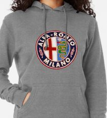 Antique Alfa-Romeo Classic Car Sign Lightweight Hoodie