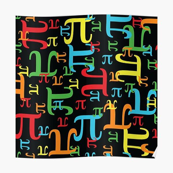 Pieces of Pi (Dark Neon) Poster