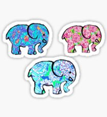 Lilly Pulitzer Pattern Elephants (3 PACK) Sticker