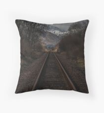 Railroad Track, Loch Eilside, Lochaber, Scotland Throw Pillow