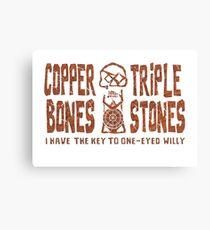 Kupfer Knochen Triple Stones Leinwanddruck