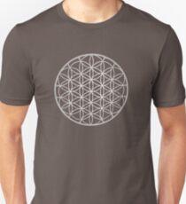 Flower Of Life Mandala Silver T-Shirt