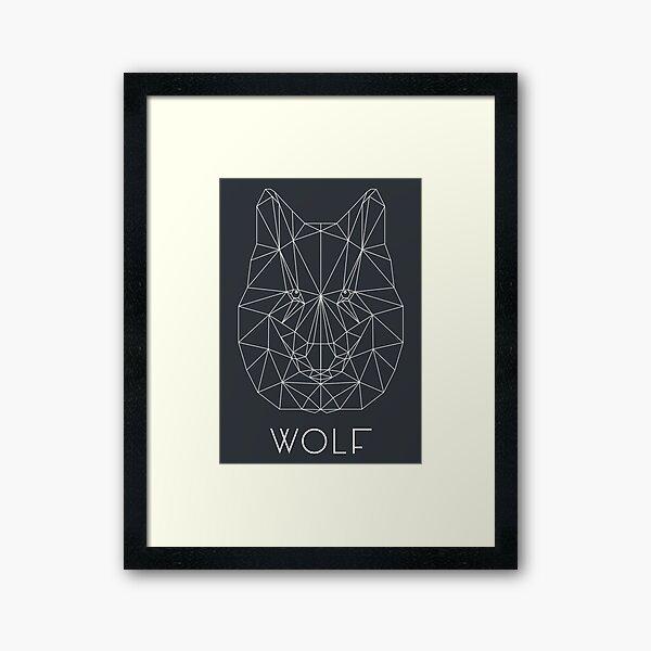 Wolf 03 Gerahmter Kunstdruck