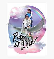 Broad City Ride Or Die Photographic Print