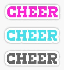 Cheer, cheer, and cheer some more! Sticker