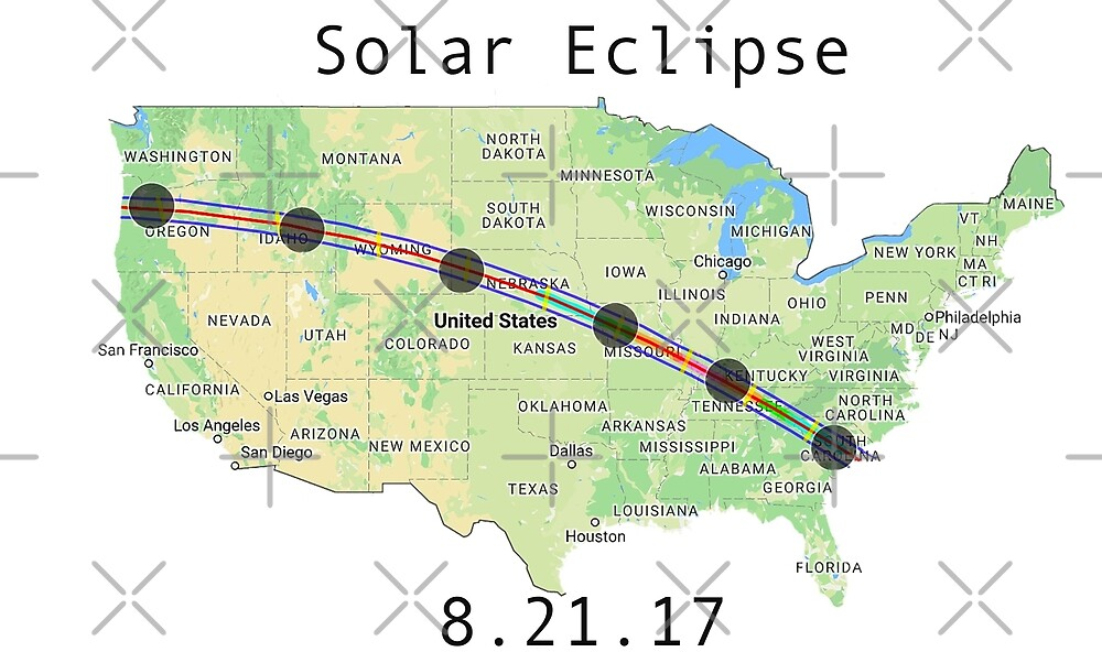 Solar Eclipse Totality Map by Marina Smith