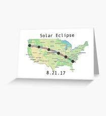 Solar Eclipse Totality Map Greeting Card