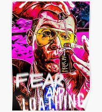 fear and loathing in las vegas print Poster
