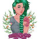 Yelena | Summer Punk Girl | Marker Art by FabledCreative