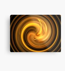Warm Autumn Swirl Metal Print