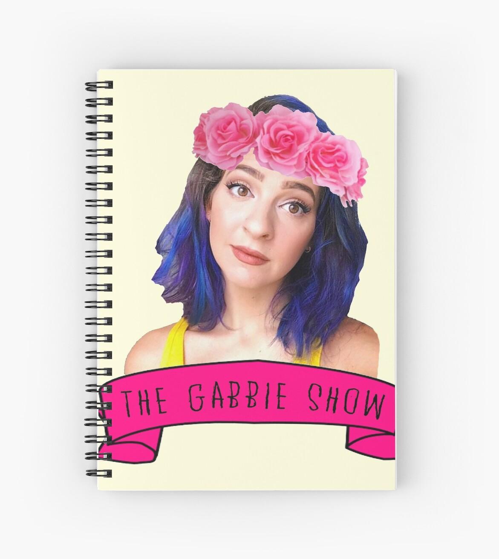 The Gabbie Show Flower Crown Edit 2 Spiral Notebooks By