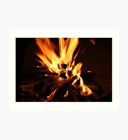 Flammen Kunstdruck