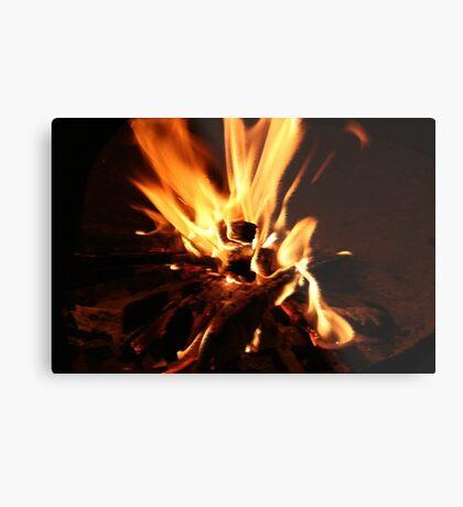 Flammen Metalldruck
