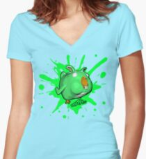 Brutes.io (Chibbit Green) Women's Fitted V-Neck T-Shirt