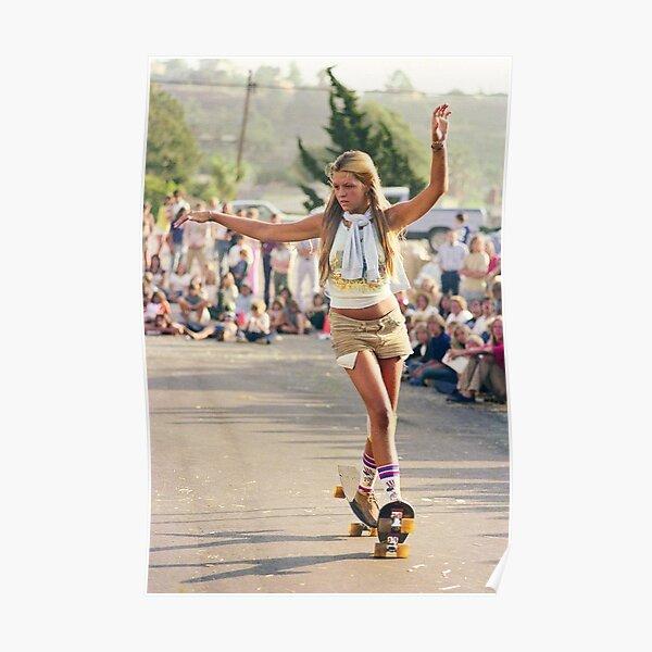 1970's Skateboard Girl Poster