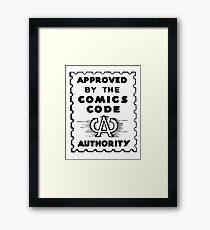 Comics Code Approved Framed Print
