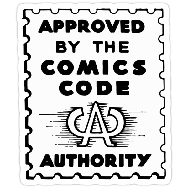 Image result for comics code sticker