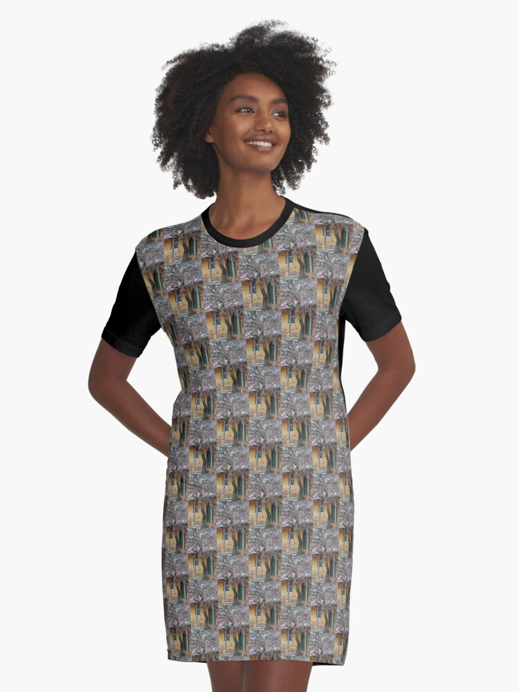 Old Inn Graphic T-Shirt Dress Front