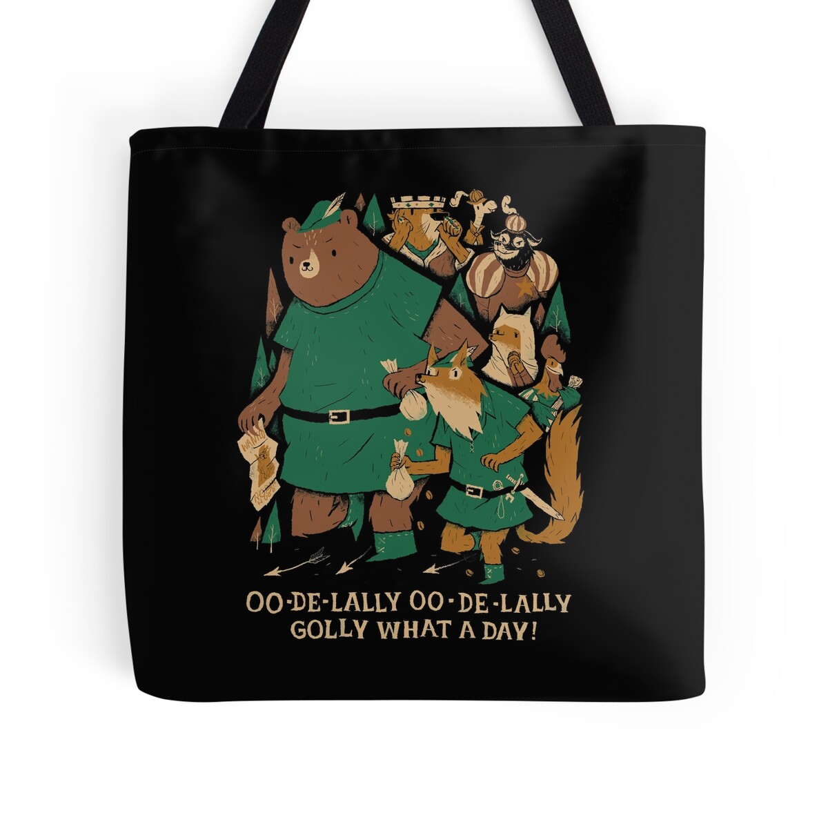 quot oo de lally quot tote bags by louros redbubble