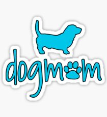 Basset Hound Dog Mom Sticker for Dog Owners Sticker