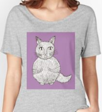 cats cartoon graphic color Women's Relaxed Fit T-Shirt