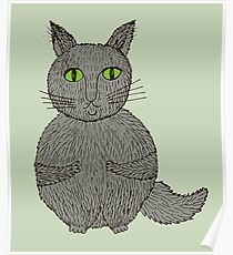 cats cartoon graphic color  Poster