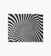 Black and White Spiral Art Board