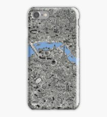 London Map Drawing iPhone Case/Skin