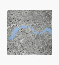 London Map print Drawing Scarf