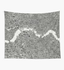 Map of London Wall Tapestry