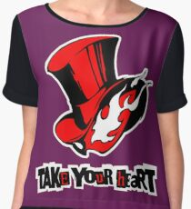 Persona 5 - Phantom Thieves Symbol / Take Your Heart Women's Chiffon Top