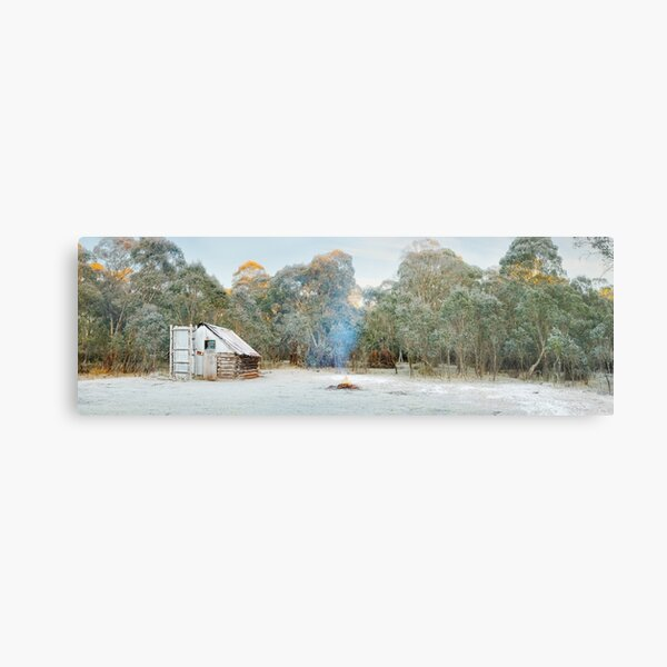 Frosty Moroka Hut, Alpine National Park, Victoria, Australia Metal Print