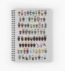 Naruto Characters 16 bits  Spiral Notebook