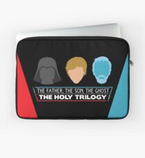 The Holy Trilogy (White Letters) Laptop Sleeve
