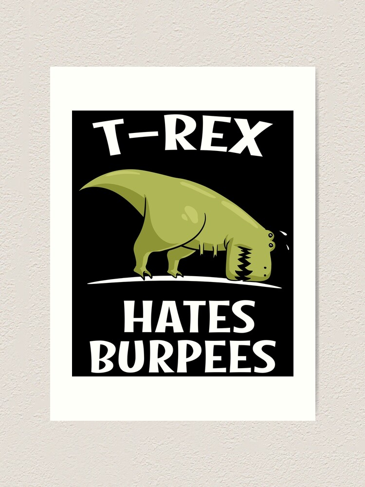 Exercise Motivation Required T-Shirt Funny t shirt t-rex dinosaur fitness gym