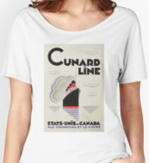 Vintage Travel Poster – Cunard Line Women's Relaxed Fit T-Shirt
