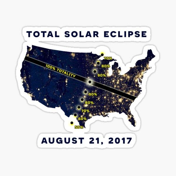 Total Solar Eclipse August 21, 2017 Sticker Sticker