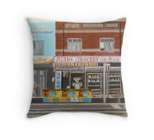 Asian Grocery Store Throw Pillow